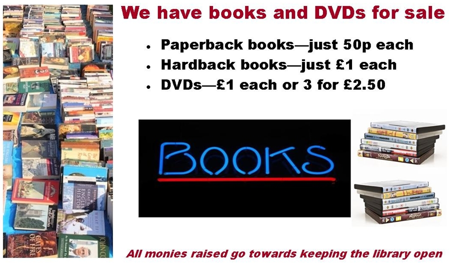 We sell books and DVDs Poster v2 cropped 900x527